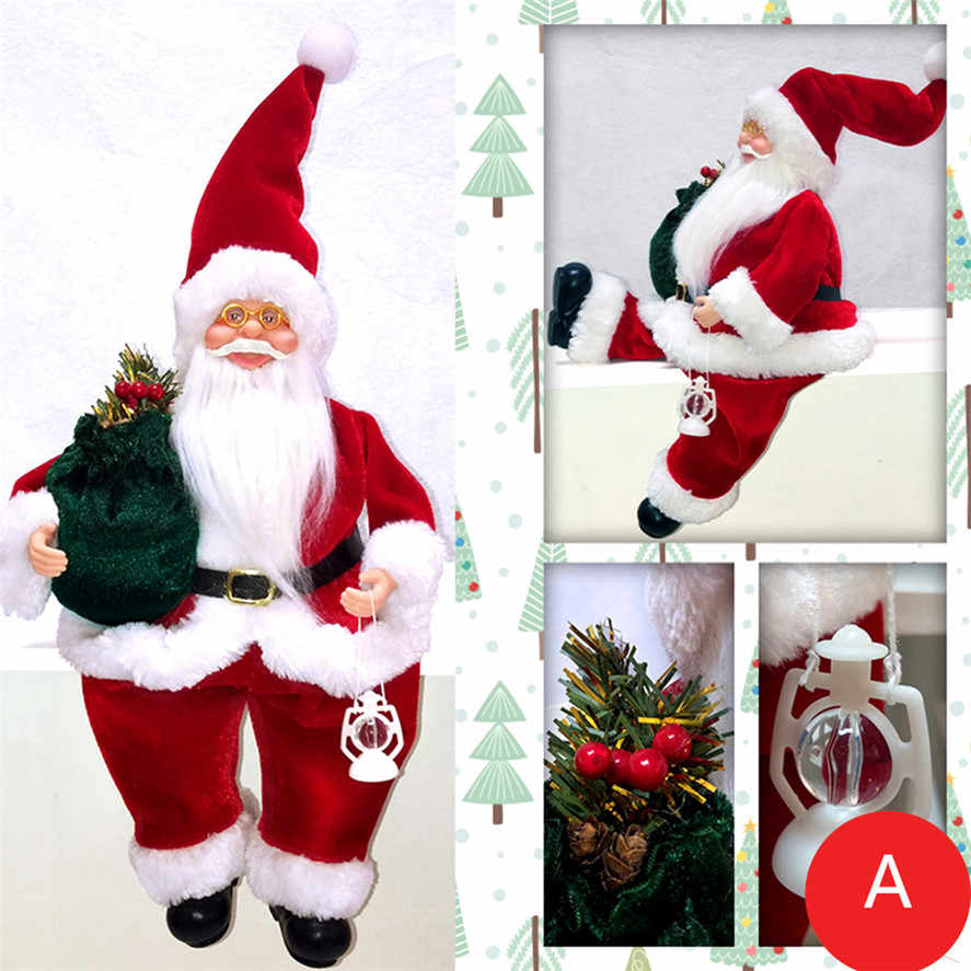 New Christmas Santa Claus Decor for Home 1PC 47x20x11cm Santa Claus Toy Christmas Gifts For Kids Xmas Decorations 30