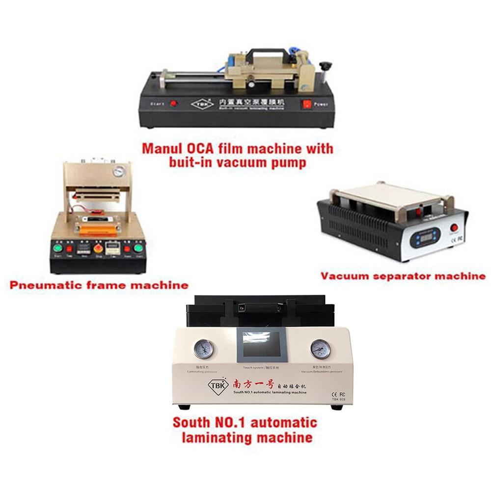حباب اتوماتیک TBK-808 جدید که دستگاه لمینیت را از بین می برد + دستگاه قاب پنوماتیک + دستگاه جدا کننده صفحه نمایش + دستگاه فیلم OCA