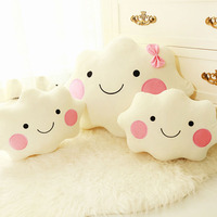 Cute Plush Toy Cloud Pillow Creative Color Cloud Car Home Cushion birthday Gift For Childen