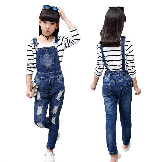 2017 Agujeros de Alta Calidad Baby Girl Boy Jean Pantalones Niños Casual Pantalones de Mezclilla de Moda Primavera Otoño Niños Trajes de Ropa