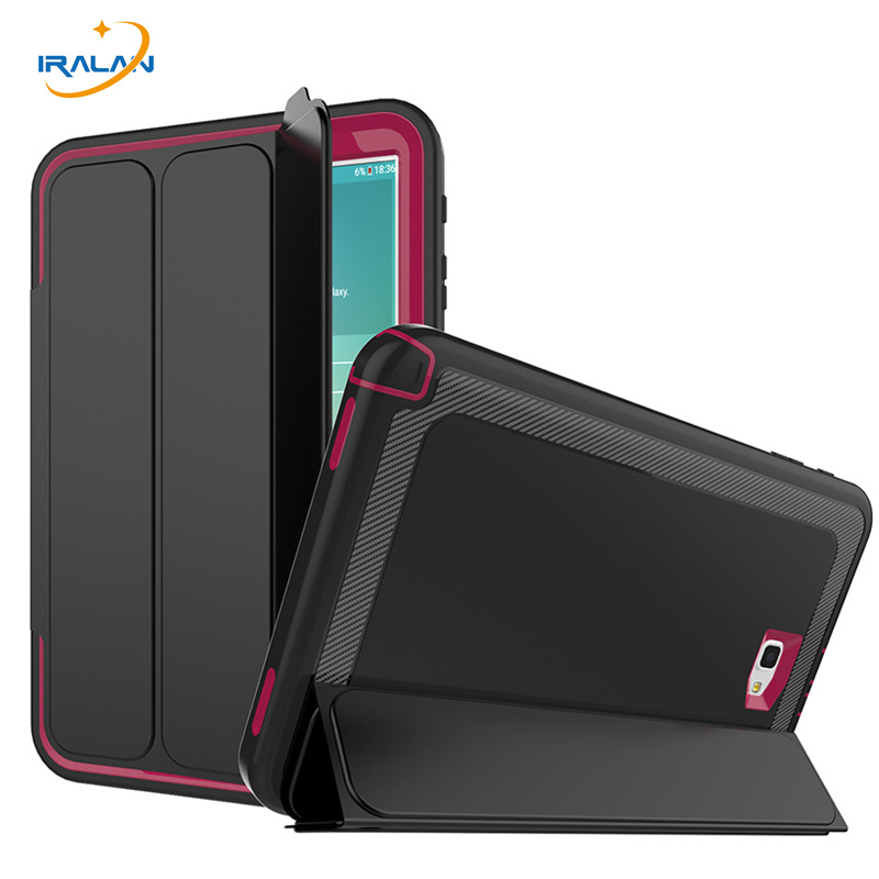 2018 hot Luxury cover for Samsung Galaxy Tab A 10.1 T580 T585 three fold Smart Business leather case+screen film+stylus free 3 in 1 high quality business smart pu leather book cover case for samsung galaxy tab s2 t710 t715 8 0 stylus screen film