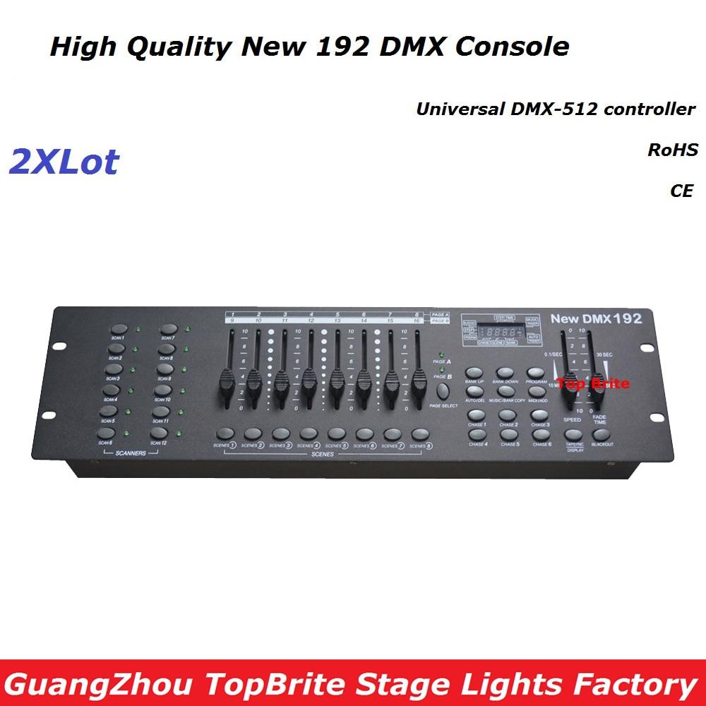 Free Ship 2XLot NEW 192 DMX Controller Stage Lighting DJ Equipment DMX Console For Led Par Moving Head Spotlights Dj Controller