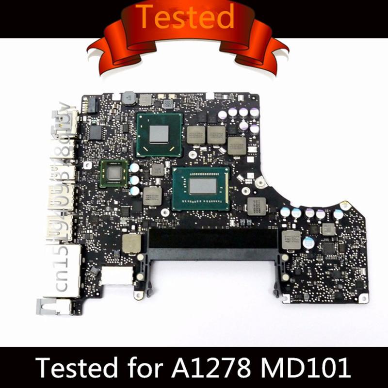 """Carte mère testée pour Macbook Pro 13 """"carte mère d'ordinateur portable i5 2.5GHz i7 2.9GHz A1278 carte mère 820-3115-B 2012 MD101 MD102"""