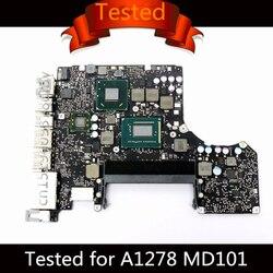 Testato Scheda Madre per Macbook Pro 13 Scheda Logica Del Computer Portatile i5 2.5GHz i7 2.9GHz A1278 Scheda Madre 820-3115-B 2012 MD101 MD102