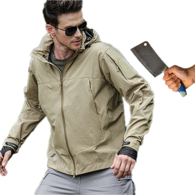 Self Defense Security Anti cut Anti Stab Men Jacket Bodyguard Stealth Defense Police Personal Tactics fleece hooded blouse tops