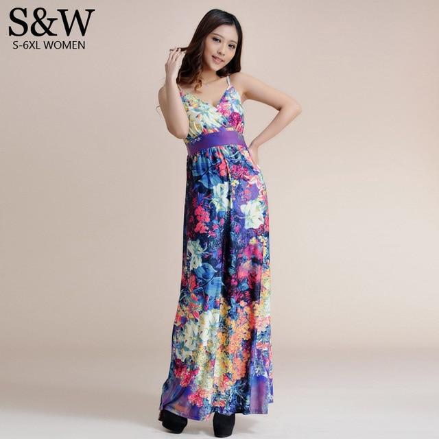 Summer Floral Long Beach Dresses