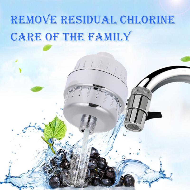 In-line bathroom Shower Filter bathing water filter purifier water treatment Health softener Chlorine Removal 2 Rubber Ring in line bathroom shower filter bathing water filter purifier water treatment health softener chlorine removal for kitchen home