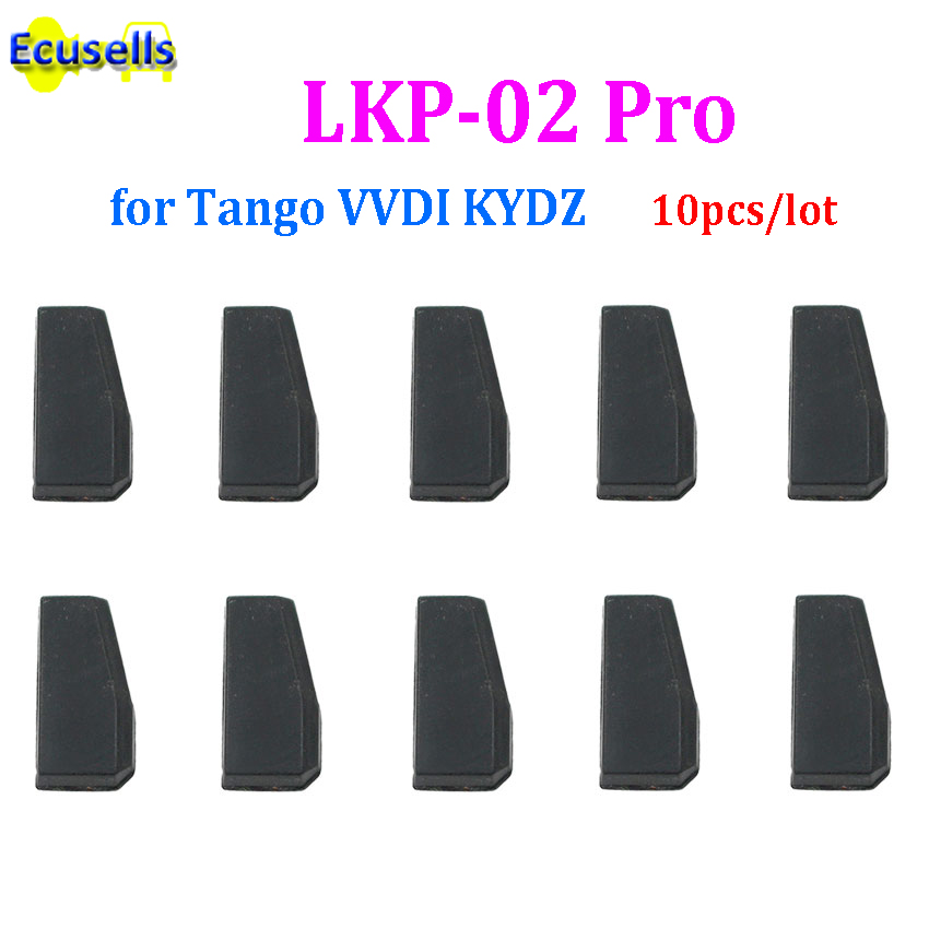 10pcs lot LKP 02 PRO Car Key Glass Chip Blank transponder Chip for Tango VVDI KYDZ