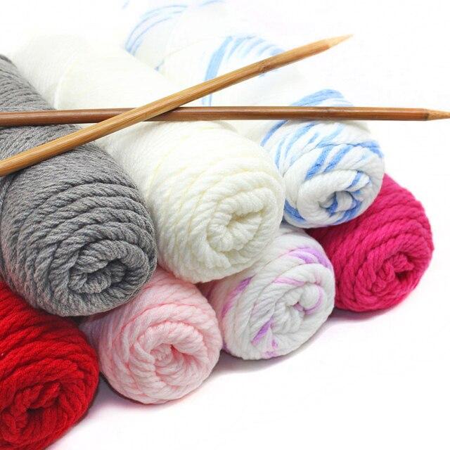 2 piezas = 2x150g algodón mezclado Hilados de lana para tejer ...