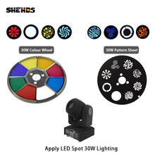 Shehds Mini Spot 30W LED Lampu Moving Head Bagian Warna Roda & Gobo Roda Aksesoris(China)