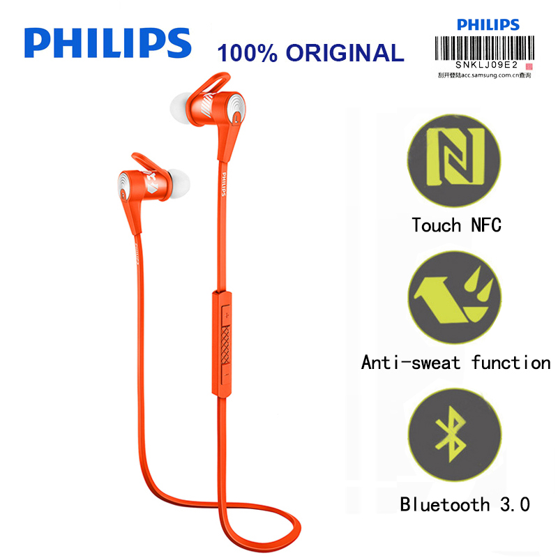 Philips SHQ7300 Bluetooth Headphones with NFC Mic Wire