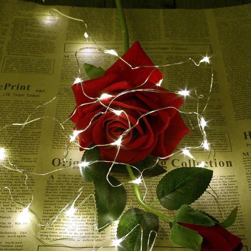 2 м 20 светодиодов медный провод стиль китайские фонарики, веревка Свадебная вечеринка Елочная гирлянда Новый год Рождество украшения для дома