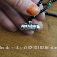 SL000 непальский Тибетский 925 стерлингового серебра молитвенный ящик непальский прекрасный цилиндр амулеты, OM& Будда глаз подвеска GAU