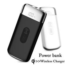 Внешний аккумулятор 20000 мАч, внешний аккумулятор, встроенный беспроводной внешний аккумулятор, портативное беспроводное зарядное устройство QI для iPhone XS Max 8