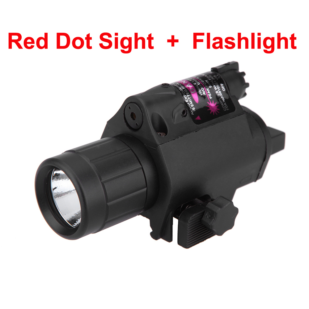 Hunting Tactical Laser Sight 650nm Red Dot Laser Sight Bright CREE LED Flashlight For Shotgun Pistol Rifle