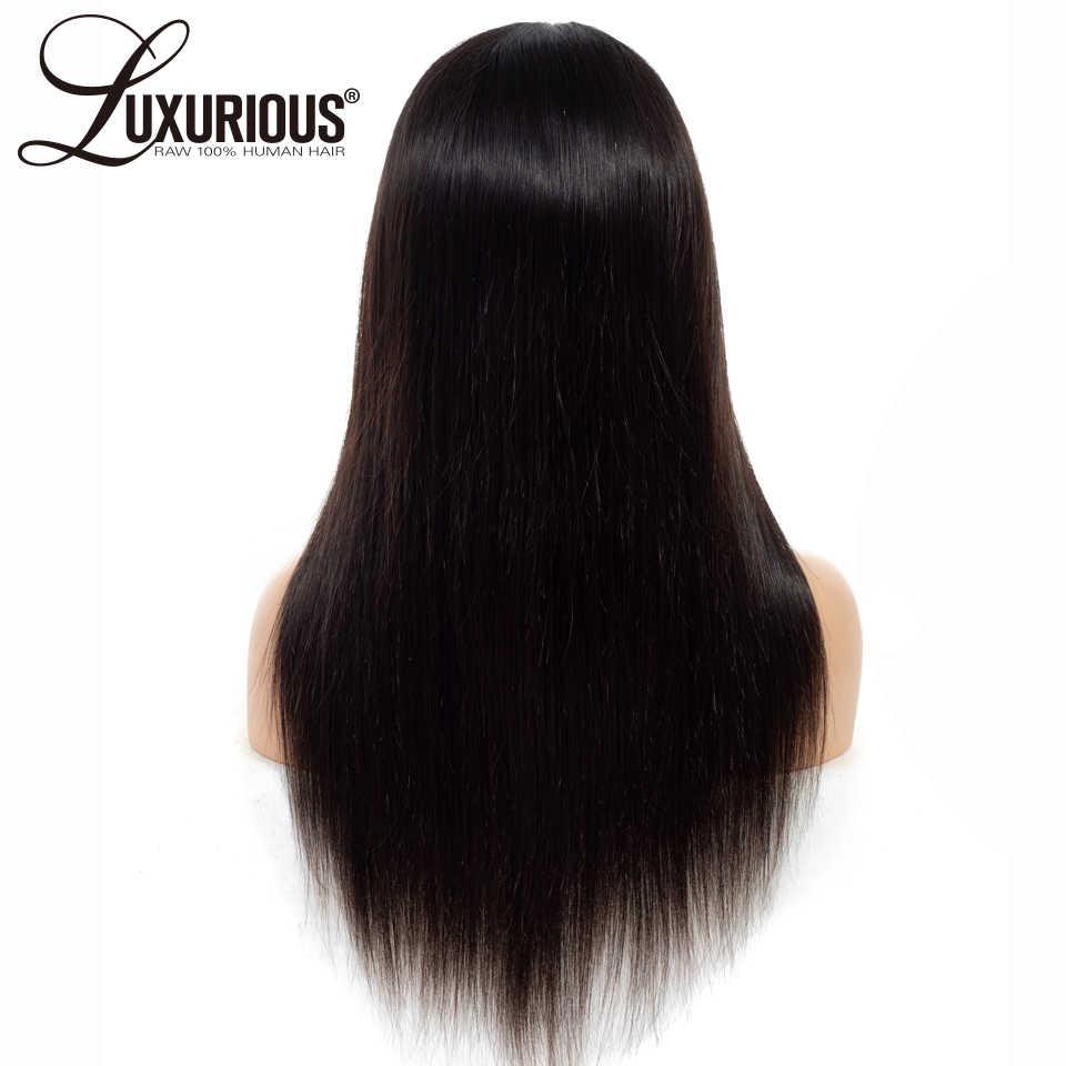 360 парик al с волосами младенца 150% плотность прямые перуанские волосы Remy Естественные парики предварительно сорванные человеческие волосы