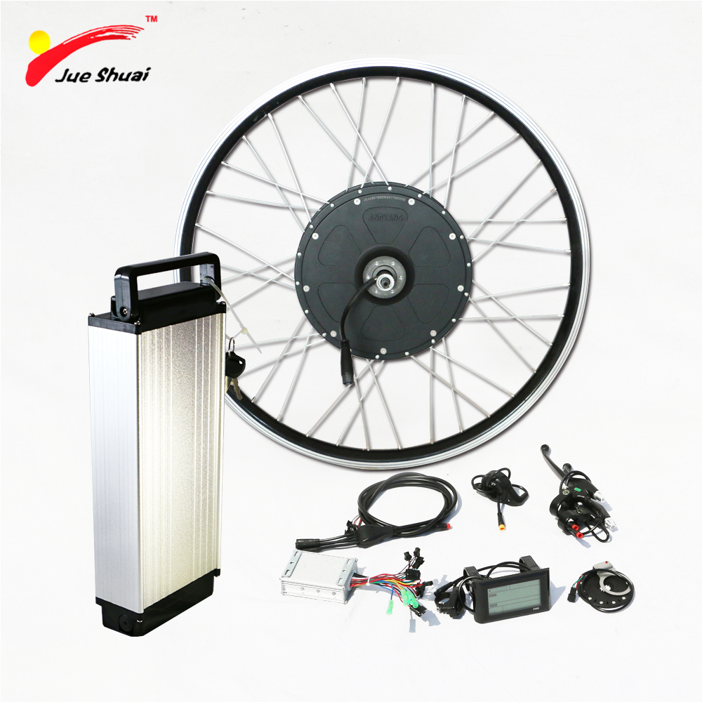 Ebike Kit Electric Bike Conversion Kit 48V 1000W with 48v Lithium Ion Battery Front Rear Motor Powerful kit bicicleta electrica free customs taxes super power 1000w 48v li ion battery pack with 30a bms 48v 15ah lithium battery pack for panasonic cell