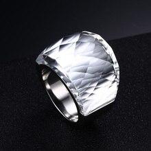 Large Rings Big Crystal Stone