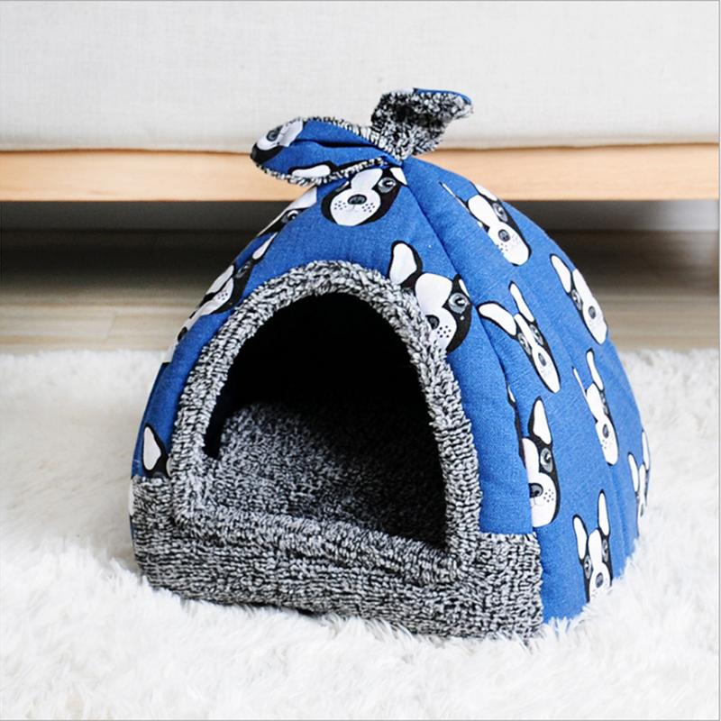 Hot Fleece Soft Cat Bed Puppy Kennel Pet House Beds & Sofas