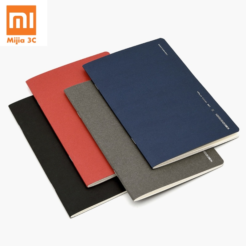 4pcs Xiaomi Mijia Kaco Green Paper NoteBook Portable Book For Office Travel School Student Writing Book 4 Colors Note Book