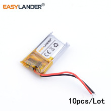 10pcs /Lot  601218 size 18 width 12 thick 90mAh Bluetooth headset toys MP4 lithium polymer battery 3D glasses Sensible