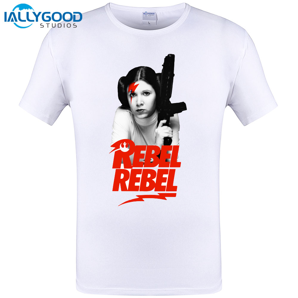 2017 New Spring Summer Favourite T-shirt Men Rebel, Princess Leia Short Sleeve Casual Cotton Funny Tees Homme Tops Fashion Tee
