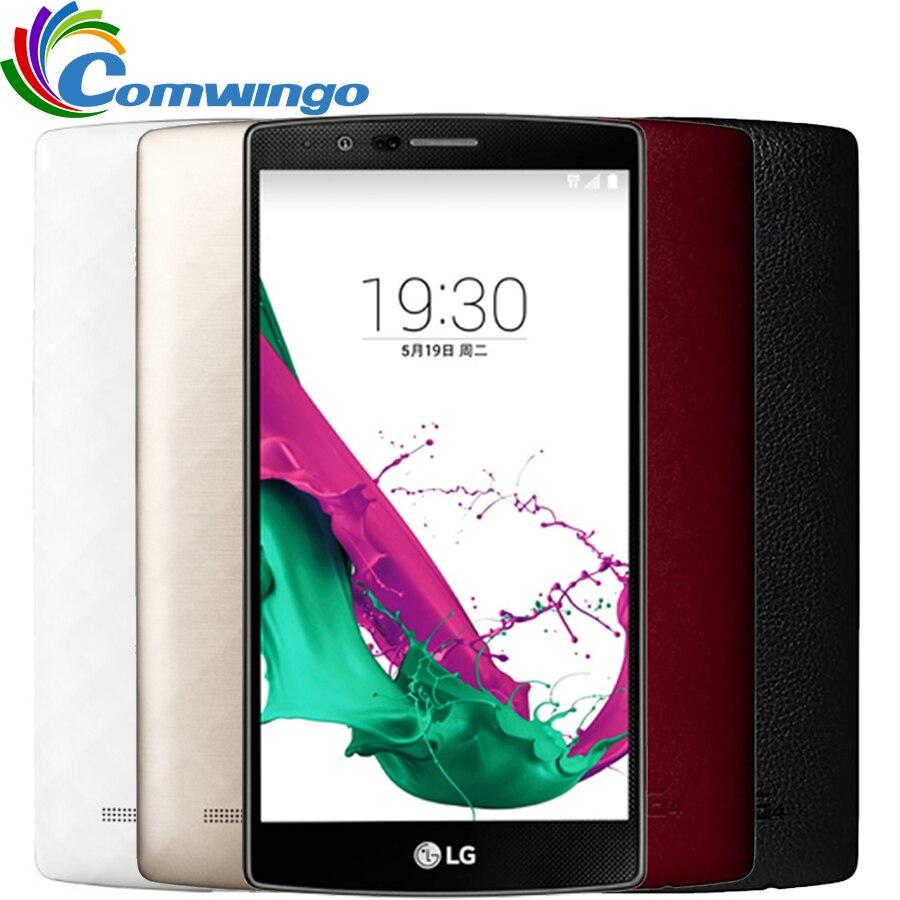 Débloqué Original LG G4 H815T H810 H818 Quad core 32 GB ROM 16.0 MP Caméra 5.5 ''1440x2560 pixels 4G LTE Moblie téléphone