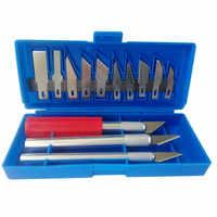 Julydream 13 piezas Juego de cuchillos de afición para artesanías multiusos, herramienta de corte para cortar cuchillos de afeitar, juego de herramientas para esculpir arte