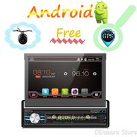 1 Din Android Car Multimedia Auto Radio DVD Player GPS Navigation With 7 Touch Screen Detachable Panel Support WIFI MIRROR LINK