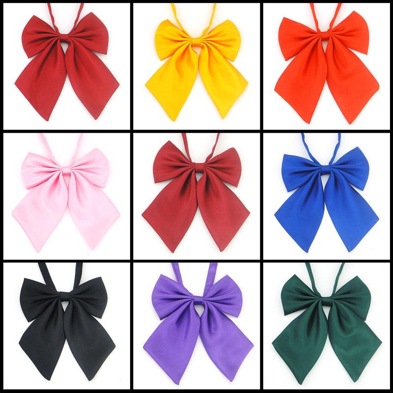 1 Stück Klassischen Japanischen Schule Mädchen Jk Uniform Fliege Nette Reine Farben Lolita Krawatte 9 Farben Cosplay Einfach Zu Verwenden
