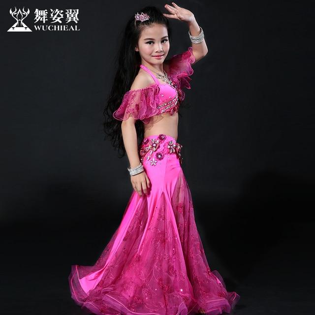 2016 Venta caliente Wuchieal marca de alta calidad trajes de Bellydance  2018 nuevo niño niñas danza 2d74520b1350