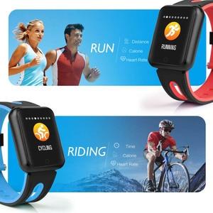 Image 3 - Smart uhr P68 band IP68 wasserdichte smartwatch Dynamische herzfrequenz blutdruck monitor für iPhone Android Sport Gesundheit uhr