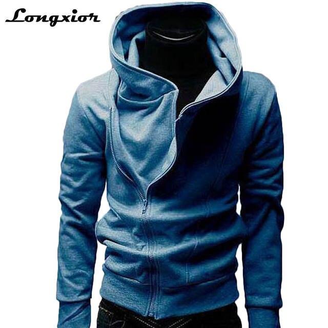ff69bd5d70f5 placeholder 2017 Spting Brand Turtleneck Sweatshirt Men Slim Fit Black  Jacket Cotton Plus Size 3XL Solid Hoodies