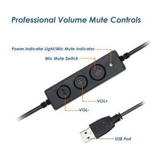 Image 3 - VoiceJoy אוזניות עם מיקרופון USB תקע אוזניות עבור מחשב ומחשב שליטה על עוצמת קול ומתג השתקה