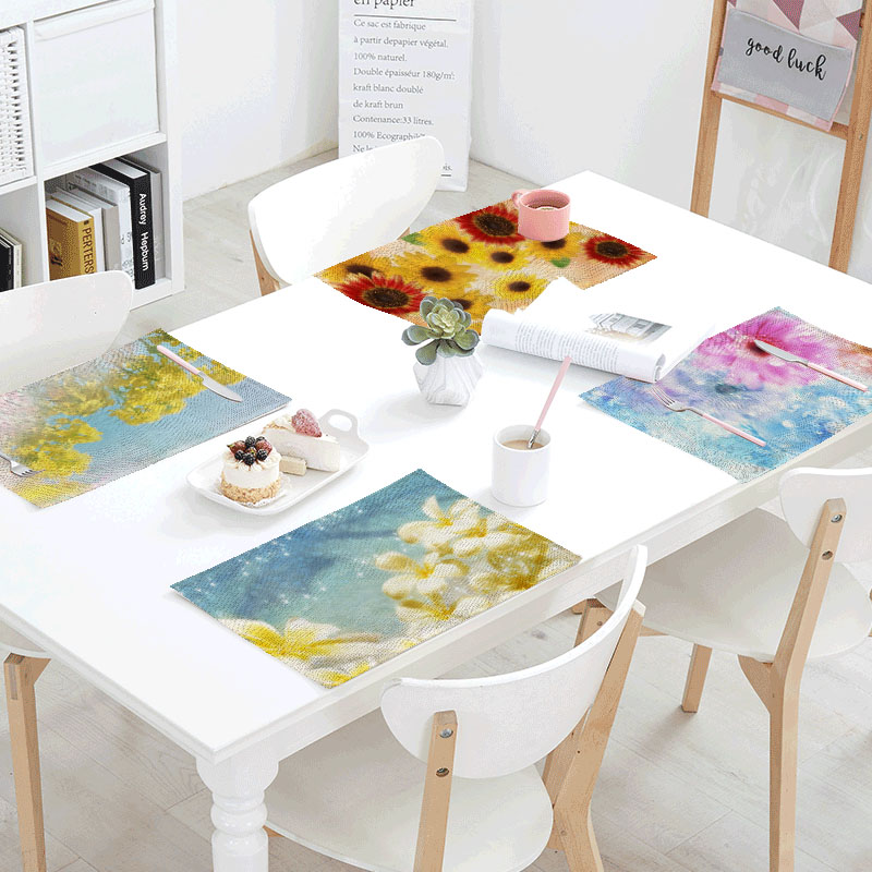 32x42cm Starlight Brilliant Polyester Table Napkins Printed Linens Place Mat Rose Needed Servilletas Design Party Decoration