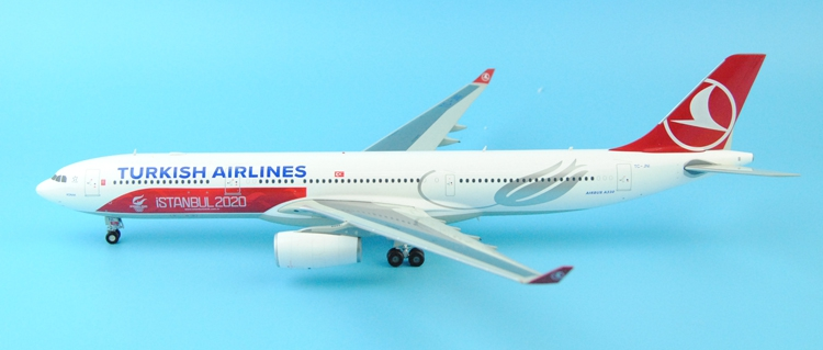 Gifts JC W 1: 200 XX2629 Turkish Airlines A330-300 iSTANBUL2020 Alloy aircraft model Favorites Model