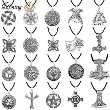 Valknut Norse Punk Necklace For Women Men Jewelry Mjolnir Pendant Evil Eye Viking Slavic Jewelry Dropshipping Talisman Necklaces(Hong Kong,China)