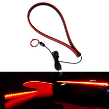 180pcs LED 90cm Super Bright Additional Brake Lights Car Third Brake Light 12V Signal Warning Light Rear High Mount Stop Lamp(China)