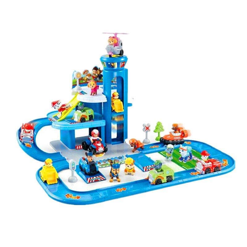 Pat' patrouille jouets ensemble figurines Action piste voiture patte patrouille jouets ensemble Patrulla Canina Juguetes anime figurines jouer enfants cadeau jouet