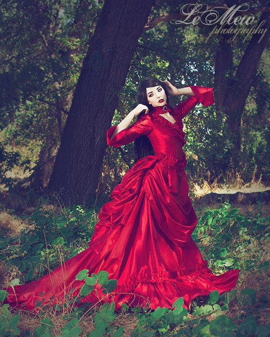 Old Fashioned Red Victorian Gown Pictures - Best Evening Gown ...