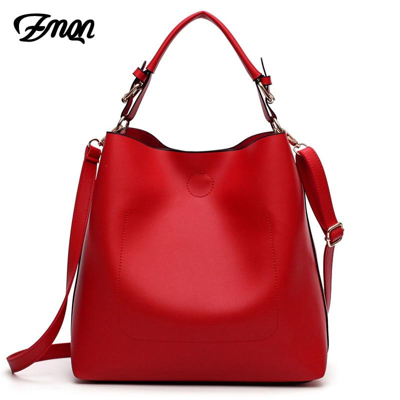 ZMQN Women Messenger Bags 2019 Handbags Set Hobo Luxury Bag Ladies Shoulder Tote Large Capacity Bucket Bags PU Leather Red A912