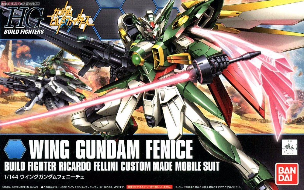 1 PCS Bandai HG Build Fighters HGBF 006 1/144 Wing Gundam Fenice Vrabe Mobile Suit Assembly Model Kits Gunpla juguetes jp 48 25 pavone 1106648