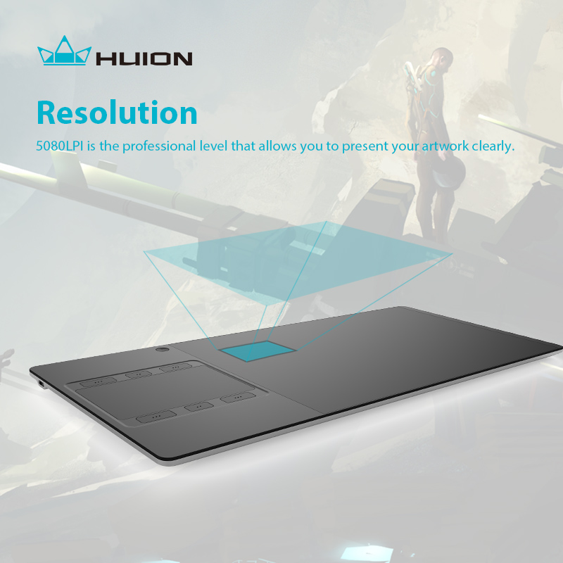 """""""Huion G10T"""" belaidis grafikos braižymo planšetinis kompiuteris - Kompiuterių periferiniai įrenginiai - Nuotrauka 4"""
