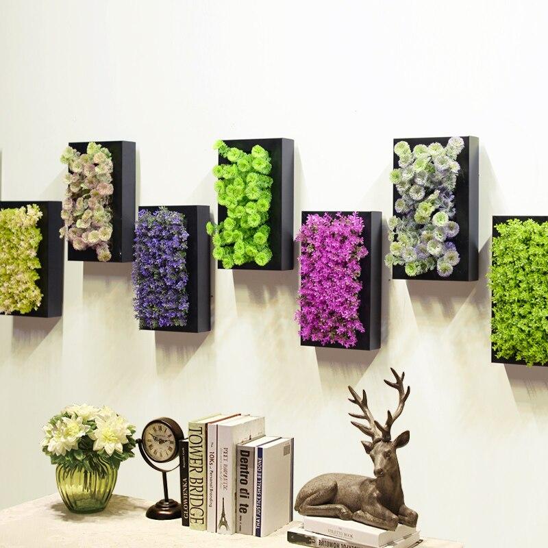 Parete Piante Artificiali : Piante artificiali decorazione della parete stereo fiori