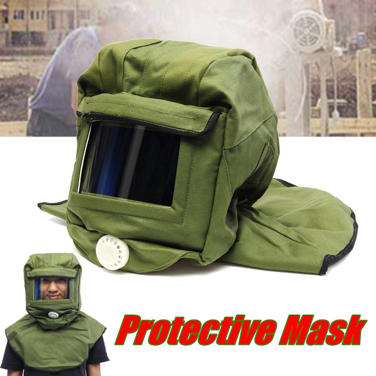 Thicken Safety Sandblast Sandblasting Helmet Hood Protector Mask Blue Canvas custom hood protector black