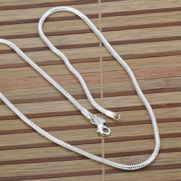 N191 24 fashion jewelry silver necklace 925 silver chains pendants n191 24 fashion jewelry silver necklace 925 silver chains pendants 4m yi gu 24inch aloadofball Choice Image
