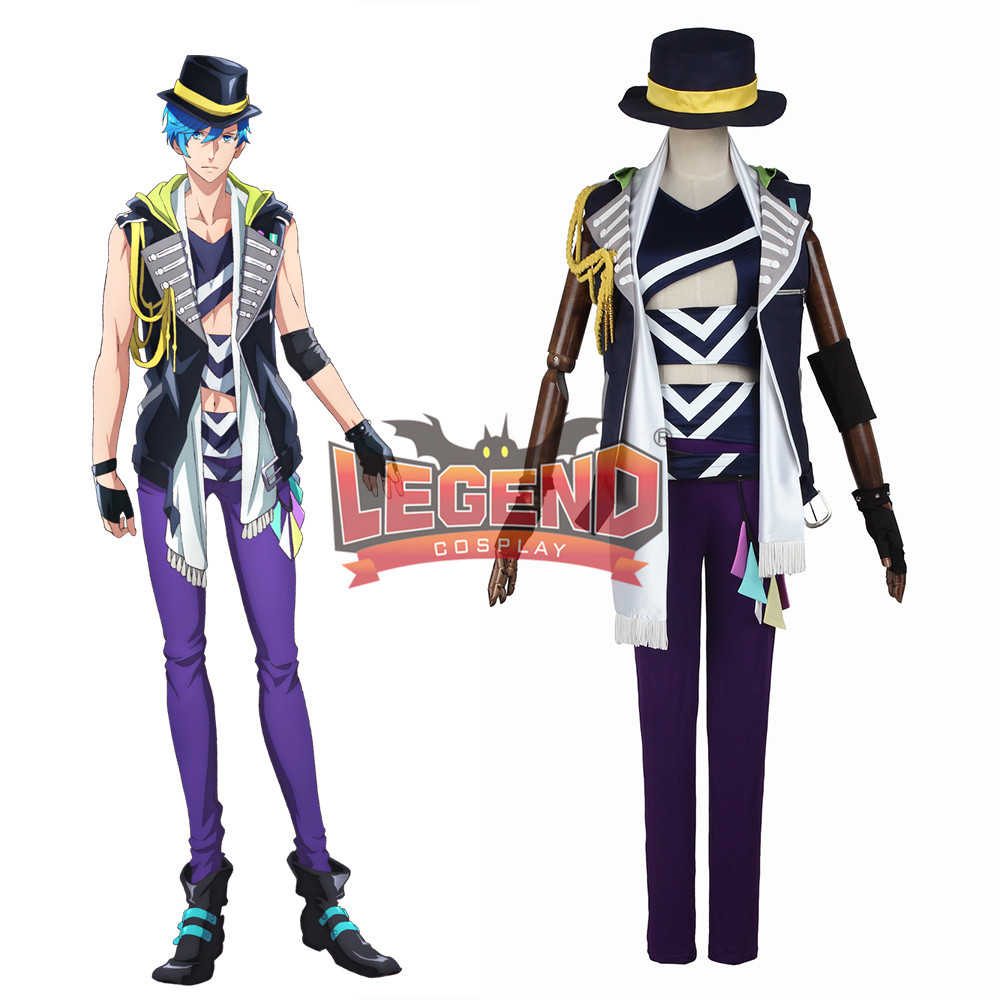 Anime B-project Ambitious Aizome Kento Cosplay Costume Coat adult costume halloween costume custom made full set