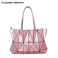FLOWER POETRY Women Handbag Geometric Baobao Shoulder Bag Designer Lotus Tote Famous Brand Luxury Handbags Bolsas