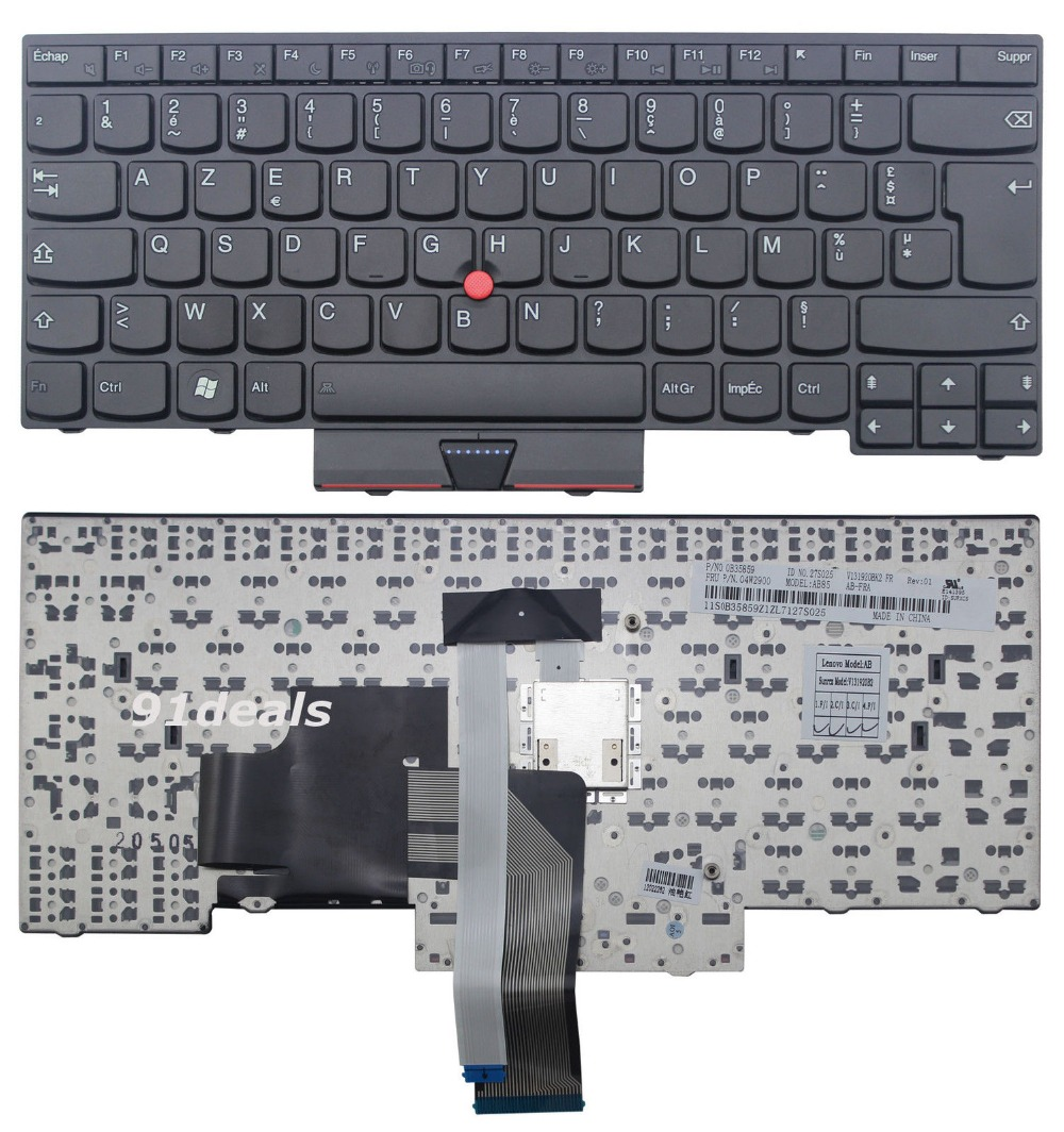 New Laptop keyboard for Lenovo ThinkPad L330 S430 T430u Edge E445 S430  FR  french  layout new laptop keyboard for lenovo thinkpad t410 t420 x220 t510 t510i t520 t520i w510 w520 series laptop keyboard us layout