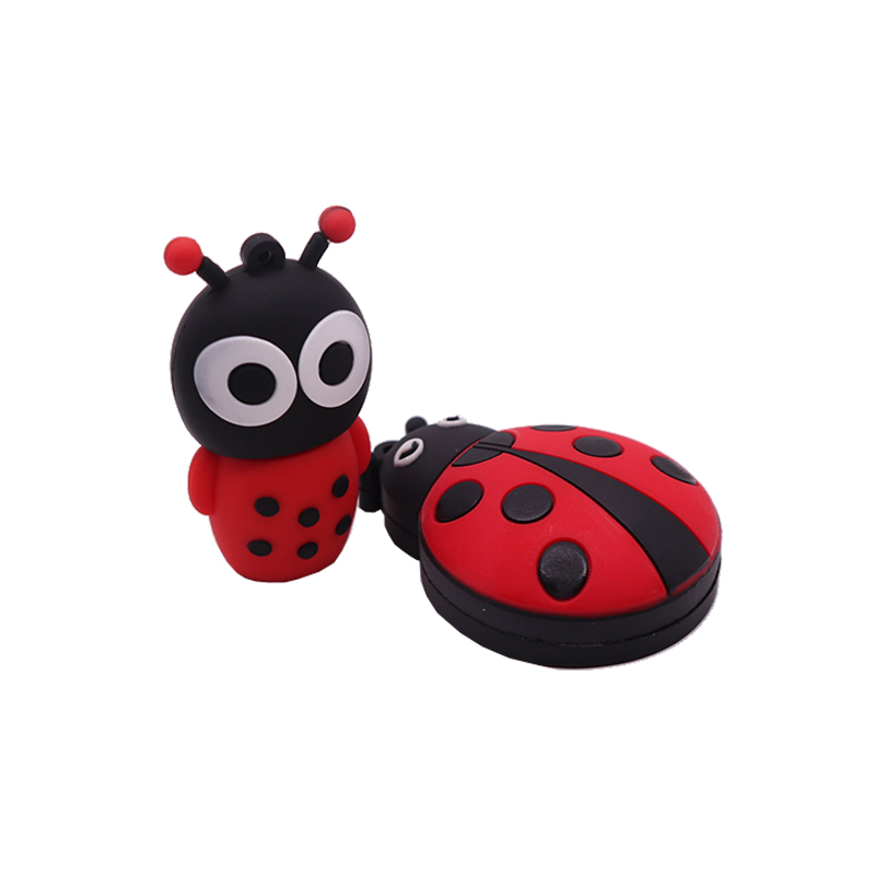 USB flash drive 64GB pen 32GB  cartoon Ladybug pendrive 4GB 8GB 16GB 128GB memoria usb stick creative gift cle 2.0